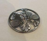 GEORG JENSEN: A stylish circular Danish silver bro
