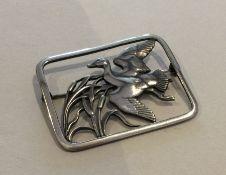 GEORG JENSEN: A rectangular Danish silver brooch i