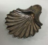 A Georgian silver butter shell. London. Approx. 10