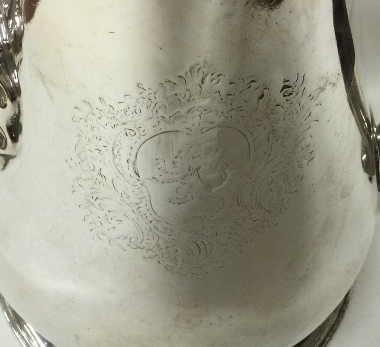 A massive George II silver tapering coffee pot on - Image 2 of 4
