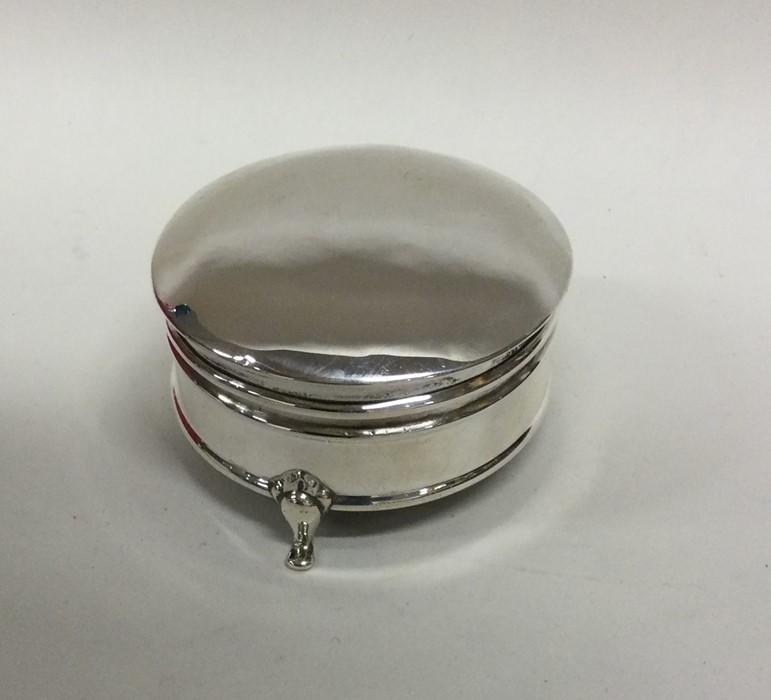 A circular Edwardian silver jewellery box. Birming