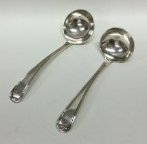 A pair of Georgian OE, fiddle and thread pattern s