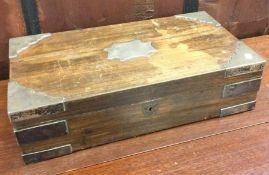 A Colonial silver mounted box with fitted interior