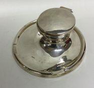 An Edwardian silver capstan shaped inkwell. Birmin