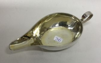 An 18th Century silver and silver gilt pap boat; (
