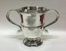 NEWCASTLE: A good George III silver two handled tr