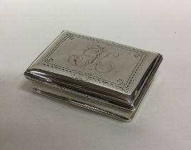 A rare 18th Century tapering silver snuff box with