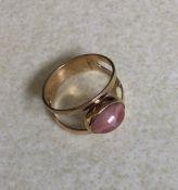 A 9ct single stone ring. 1.8 grams. Est. £20 - £30