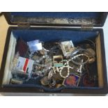 A collection of silver and other costume jewellery