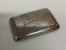 A fine quality Japanese silver cigarette case with