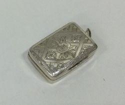 A good Georgian silver snuff box. Birmingham 1825.