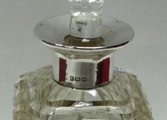 A silver and glass mounted scent bottle. Birmingha