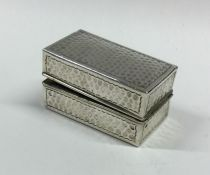A good late Victorian silver curling tong case wit