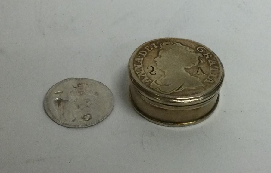 A rare 18th Century silver gilt counter box togeth