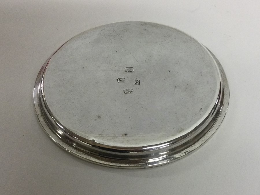 DUBLIN: A circular crested tray with reeded border - Image 2 of 2