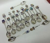 A good collection of silver and enamelled souvenir