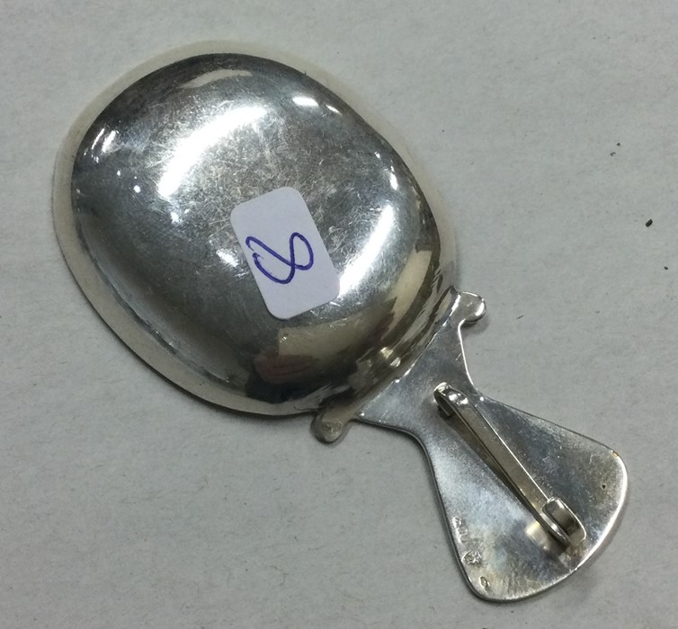 A Continental silver caddy spoon with shaped rim. - Image 2 of 2