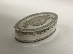 A finely engraved Dutch silver snuff box with hing