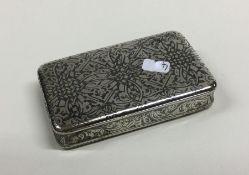 An attractive Antique silver and Niello rectangula