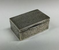 A heavy rectangular Continental silver engraved bo