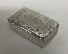 A good Georgian silver snuff box with bright cut d