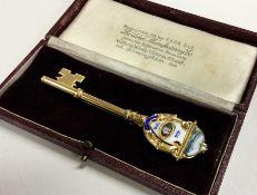 A fine and rare silver gilt and enamelled presenta