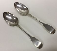YORK: A pair of silver tablespoons. By James Barbe