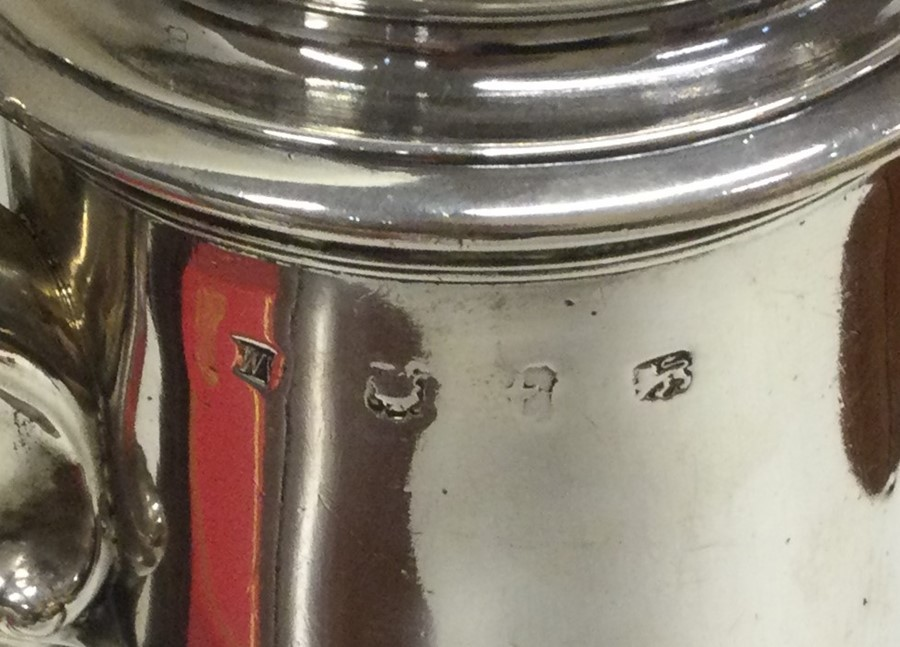 A massive George II silver tapering coffee pot on - Image 3 of 4