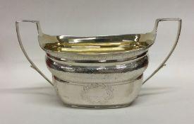 EDINBURGH: A good quality engraved silver sugar bo