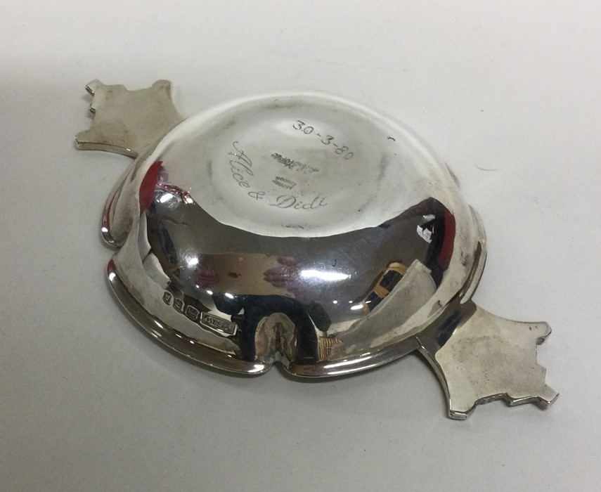 R E STONE: A shaped silver dish of typical form. L - Image 2 of 2