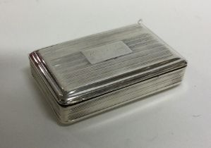 A good George III silver snuff box with reeded bod