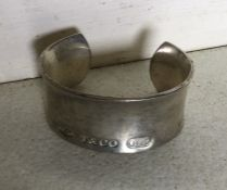 A heavy silver Tiffany bangle. Approx. 70 grams. E