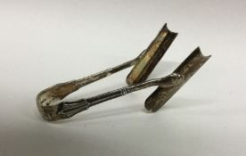 A good pair of silver asparagus tongs. London. App