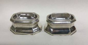 A good pair of 18th Century silver salts. London 1