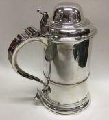 A good large Georgian silver lidded tankard with s