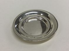 A heavy circular silver pin dish. Birmingham. Appr