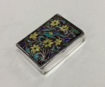A Continental silver box attractively decorated wi