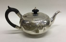 A good quality Victorian silver bachelor's teapot