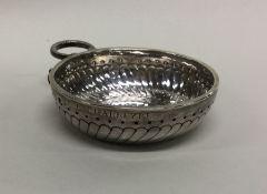 An 18th Century silver wine taster / bleeding bowl
