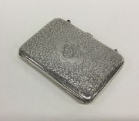 An attractive Edwardian silver purse / wallet with