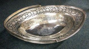 A good large oval Georgian silver bright cut crest