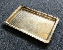 A heavy engine turned silver tray. Birmingham by S