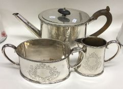 An attractive Victorian three piece silver plated