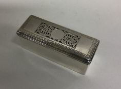 A heavy silver box of rectangular form with lift-o