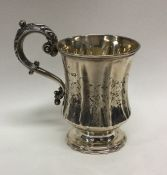 An attractive Victorian silver christening cup of