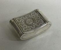 A good Georgian silver snuff box of kidney shape d