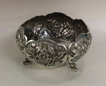 A fine quality Indian silver sugar bowl decorated