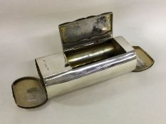An unusual silver combination vesta case / tobacco