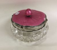 A stylish silver and pink enamelled dressing table