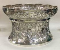 An unusually large silver dish ring of Irish desig